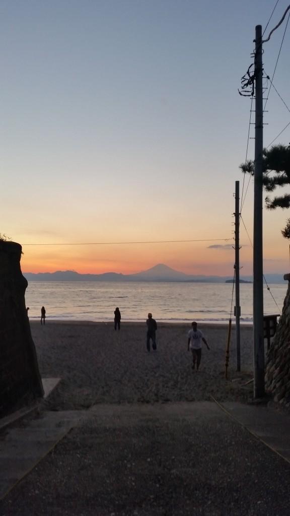 20151013富士山夕日